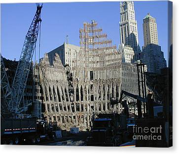 Canvas Print featuring the photograph Ground Zero-2 by Steven Spak