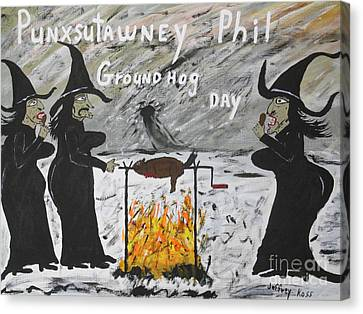 Well Endowed Canvas Print - Groundhog Day by Jeffrey Koss