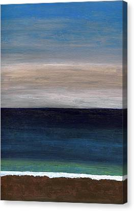 Grounding By The Sea Canvas Print by Anthea Karuna