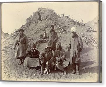 Group At Ulugh-mazar Canvas Print