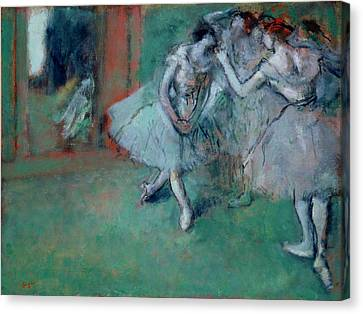 Group Of Dancers Canvas Print