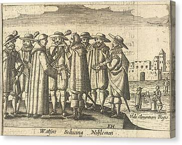 Group Of Noblemen Canvas Print by British Library