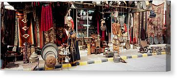 Group Of Objects In A Market, Palmyra Canvas Print by Panoramic Images