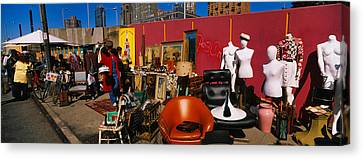 Group Of People In A Flea Market, Hells Canvas Print by Panoramic Images