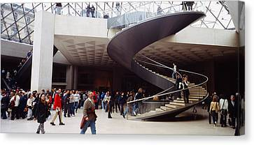 Group Of People In A Museum, Louvre Canvas Print
