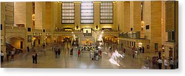 Group Of People In A Subway Station Canvas Print by Panoramic Images