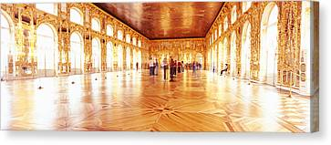 Group Of People Inside A Ballroom Canvas Print