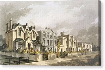 Villa Canvas Print - Group Of Villas In Herne Hill by English School