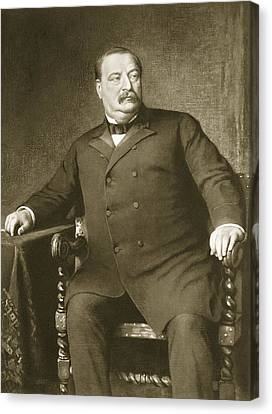 Statesman Canvas Print - Grover Cleveland by American School