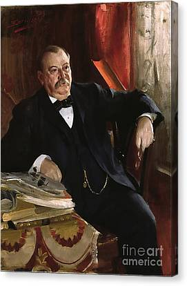 Grover Cleveland Canvas Print by Aners Zorn