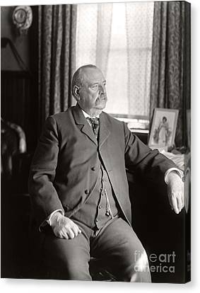 Canvas Print featuring the photograph Grover Cleveland 1905 by Martin Konopacki Restoration