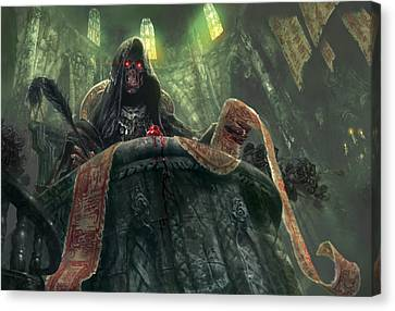 Grudge Keeper Canvas Print by Ryan Barger