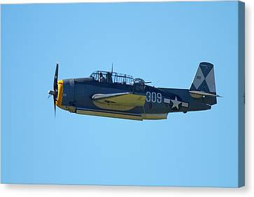 Grumman Avenger (with Folding Wings Canvas Print by David Wall