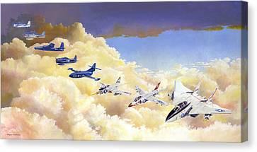 Grumman Cats Fantasy Formation Canvas Print