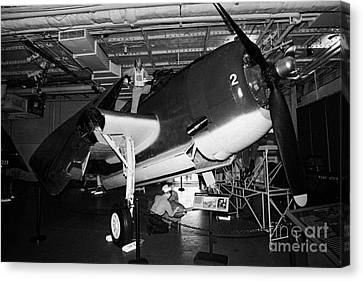 Grumman Eastern Aircraft Tbm 3e Tbm3e Avenger On The Hangar Deck At The Intrepid Air Space Museum Canvas Print