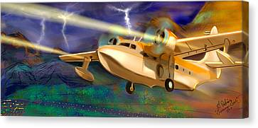 Grumman Goose Canvas Print by Gerry Robins