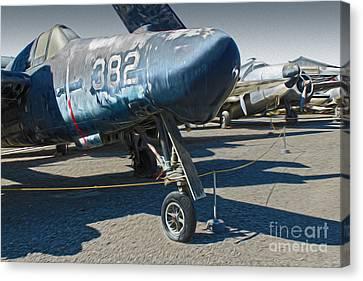 Grumman Tigercat F7f-3n  -  01 Canvas Print by Gregory Dyer