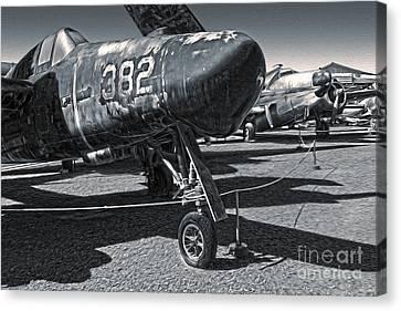 Grumman Tigercat F7f-3n  -  02 Canvas Print by Gregory Dyer