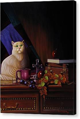 Grumpy Cat Canvas Print by Gene Gregory