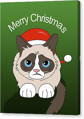 Caricature Canvas Print - Grumpy Cat by Mark Ashkenazi