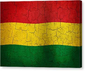 Grunge Bolivia Flag Canvas Print