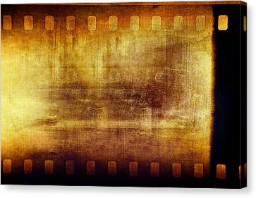 Grunge Filmstrip Canvas Print by Les Cunliffe