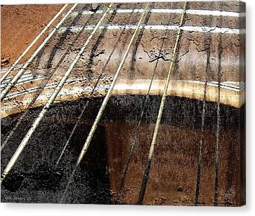 Grunge Guitar Canvas Print