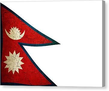 Grunge Nepal Flag Canvas Print