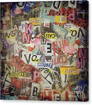 Grunge Textured Background Canvas Print by Jelena Jovanovic
