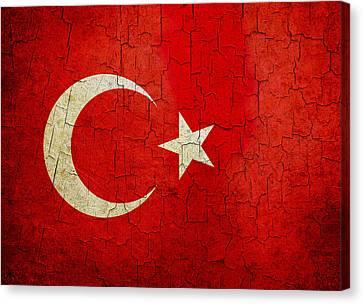 Grunge Turkey Flag Canvas Print