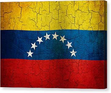 Grunge Venezuela Flag Canvas Print