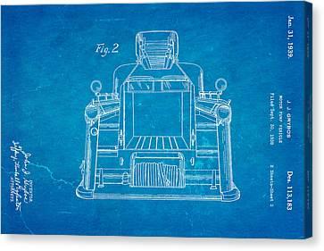 Truck Canvas Print - Grybos Fire Truck Patent Art 2 1939 Blueprint by Ian Monk