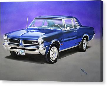 Canvas Print featuring the painting Gto 1965 by Thomas J Herring