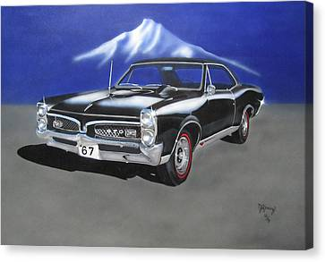 Canvas Print featuring the painting Gto 1967 by Thomas J Herring