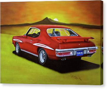 Canvas Print featuring the painting Gto 1971 by Thomas J Herring