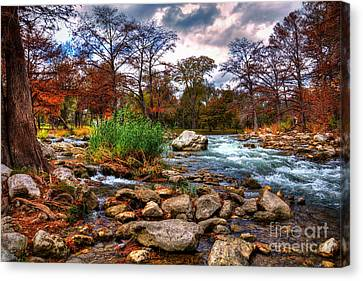 Guadalupe In The Fall Canvas Print by Savannah Gibbs