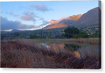 Guadalupe Mountains Sunrise Canvas Print by Stephen  Vecchiotti
