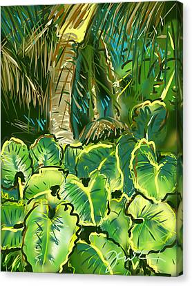Canvas Print featuring the painting Guanabana Tropical by Jean Pacheco Ravinski