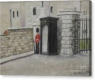 Guard At Windsor Castle Canvas Print