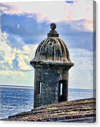 Canvas Print featuring the photograph Guard Tower At El Morro by Daniel Sheldon