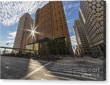 Guardian And One Woodward Avenue Buildings Canvas Print by Twenty Two North Photography