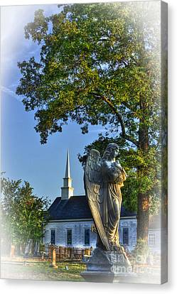 Guardian Angel At Walker Umc Cemetery Canvas Print