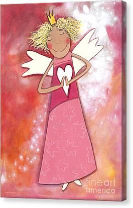 Guardian Angel For Girls Canvas Print by Sonja Mengkowski