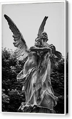Guardian Angel In Paris Canvas Print by Georgia Fowler