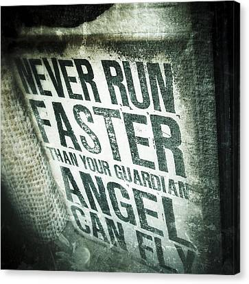 Guardian Angel - Quotation Text Photography Canvas Print