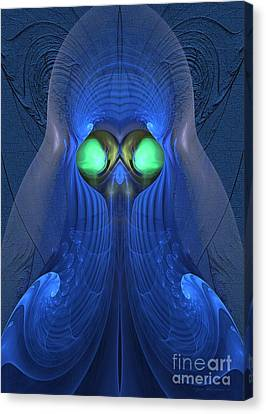 Guardian Of Souls - Surrealism Canvas Print by Sipo Liimatainen
