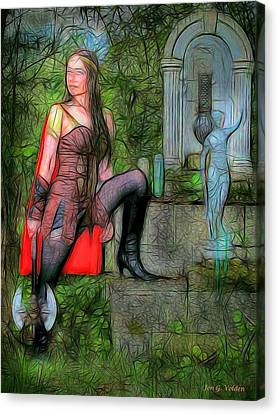 Guardian Of The Shirne Canvas Print by Jon Volden