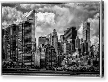 Canvas Print featuring the photograph Guardians Of The City In New York by Linda Karlin