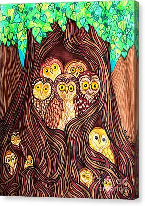 Guardians Of The Forest Canvas Print by Nick Gustafson