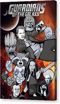 Guardians Of The Galaxy Collage Canvas Print by Gary Niles
